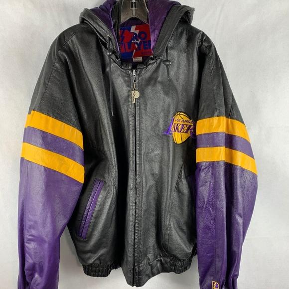 Pro Player Jackets Coats Rare Vintage Lakers Leather Jacket Poshmark